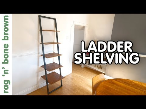 How To Make A Ladder Style Mid Century Shelving Unit