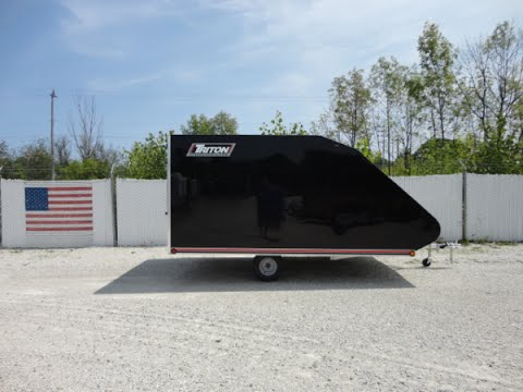 Triton TC128 12 Foot Hybrid Enclosed Snowmobile and ATV Trailer