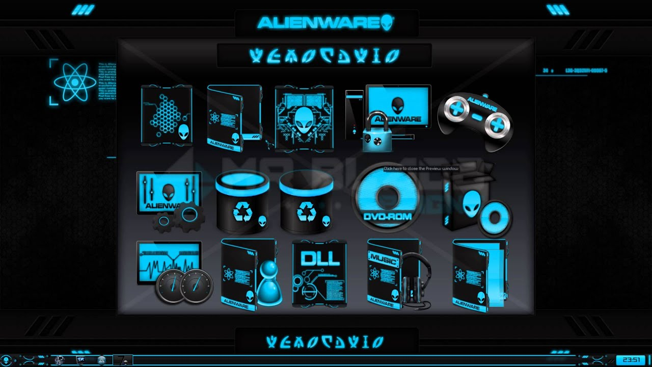 Alienware 174 Eclipse Premium Theme For Windows Se7en With
