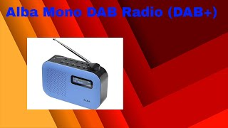 Alba Mono DAB Radio - Blue (Discontinued) | Radio Reviews