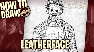 How to Draw LEATHERFACE (The Texas Chainsaw Massacre) | Narrated Easy Step-by-Step Tutorial
