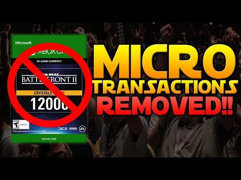 MICROTRANSACTIONS DISABLED! No More Pay To Win! - Star Wars Battlefront 2