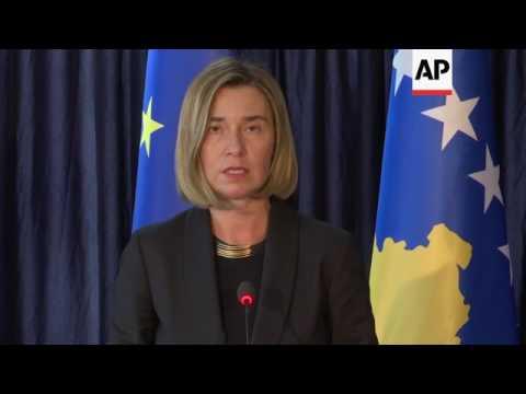 EU's Mogherini in Kosovo at end of Balkans trip