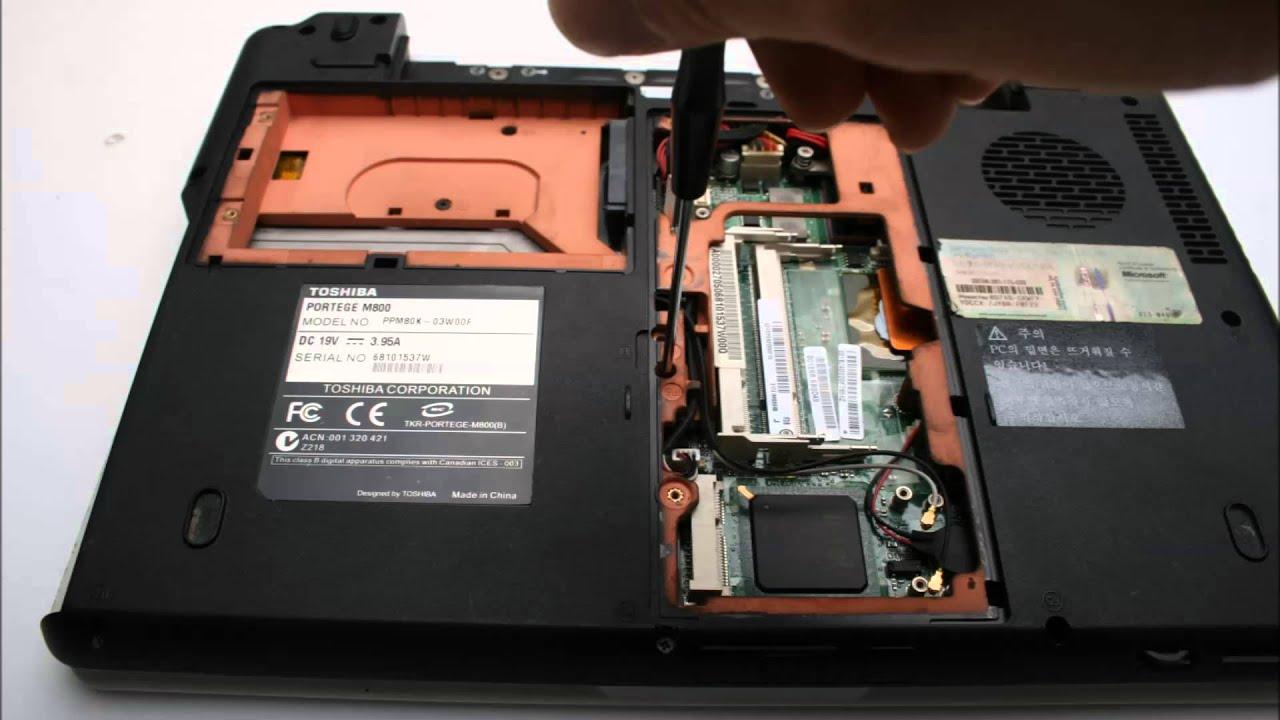 Toshiba Portege M800 노트북 분해 Laptop Disassembly