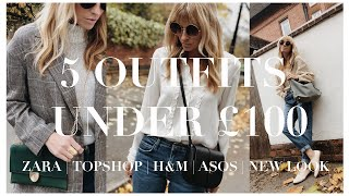 5 outfit ideas under £100 | Zara, H&M, ASOS, Topshop & New Look