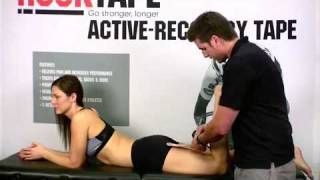 How to Tape a Calf Strain with Rock Tape Kinesiology Tape