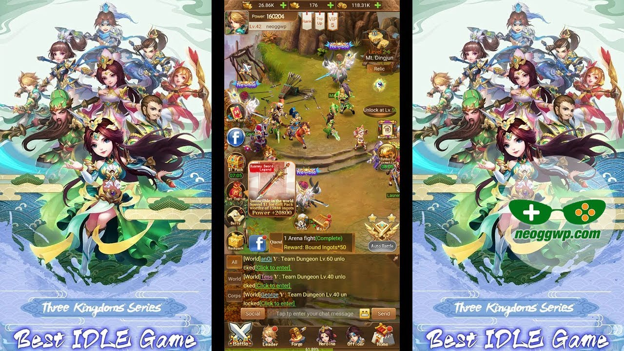 Best Idle Games 2020 Pc Three Kingdoms   Idle Games (Android iOS APK)   Idle MMORPG