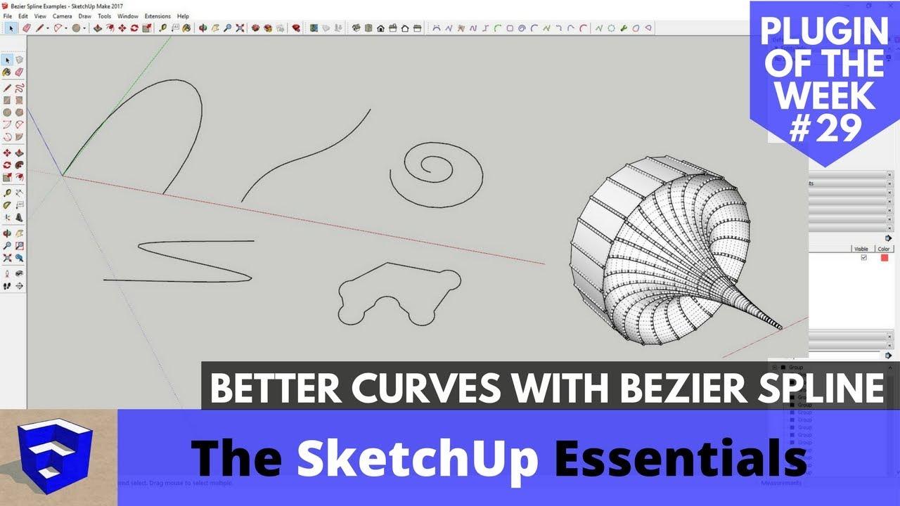 """Résultat de recherche d'images pour """"Bezier spline sketchup"""""""