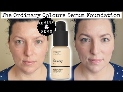 NEW | The Ordinary Colours Serum Foundation - Review & Demo | Down to Earth Beauty | Fun | WavyKate