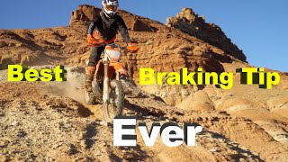 Best Rear Braking Tip EVER For Enduro Dirt Bike Riding - Stand UP!