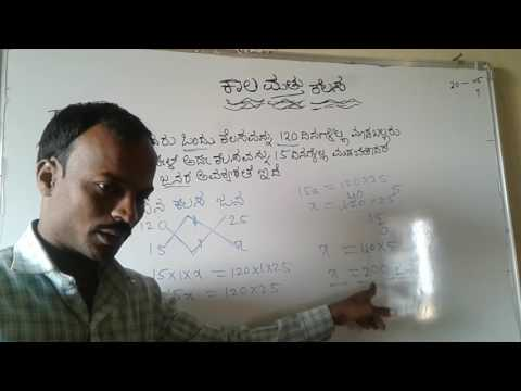 Work and time-2/Kaal Mattu kelas-2/mental ability/aptitude in kannada by spkgkworld S P KUMBAR sir
