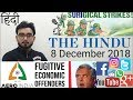 8 DECEMBER 2018 The HINDU NEWSPAPER Analysis in Hindi (हिंदी में) - News Current Affairs Today IQ