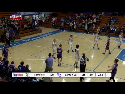 Clinton County vs. Somerset - Boys HS Basketball