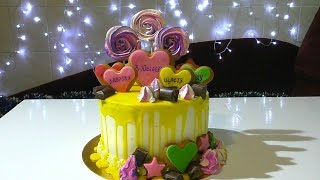 видео Торт на день рождения девочке | Рецепты тортов, пошаговое приготовление с фото