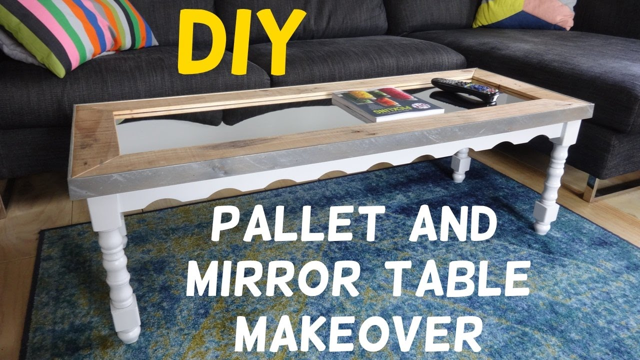 15 Table Makeover With Pallet Wood Mirror Top