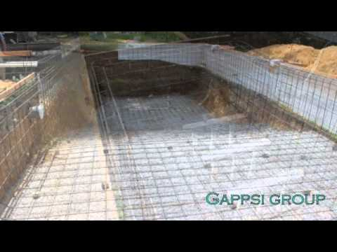 Gunite pool construction pool tiles inground swimming - Swimming pool installation companies ...