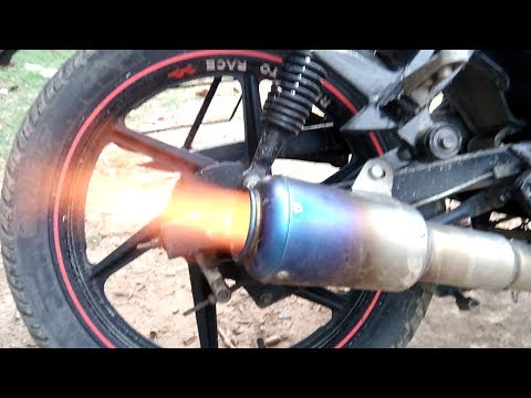 how to make fire shot in any bike    tutorial
