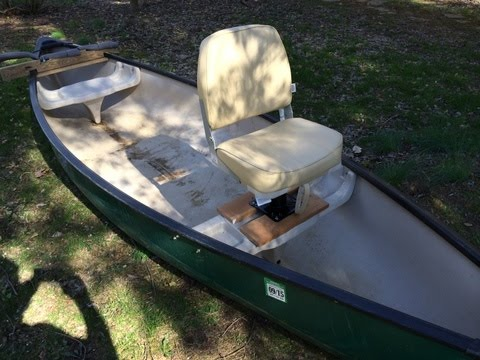 how to set up canoe swivel boat seats - old town canoe ...