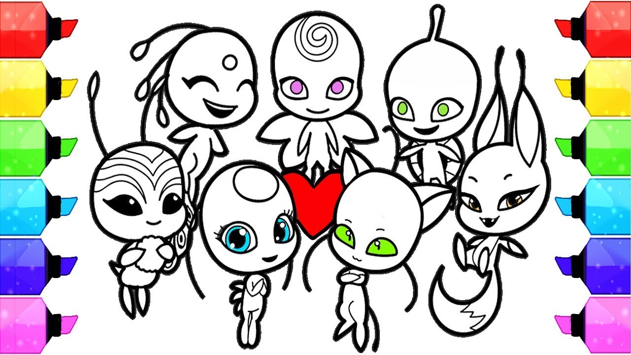 Miraculous Ladybug Coloring Pages Season 2 Kwami How To Draw And