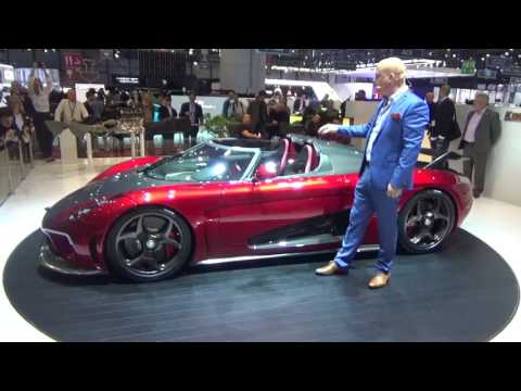 Koenigsegg Press Conference at Geneva Motor Show 2017 with 2x Regera and Agera RS Gryphon