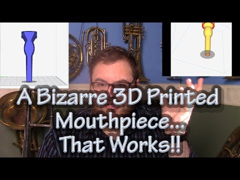 A Bizarre 3D Printed Mouthpiece Design That Actually Works!!