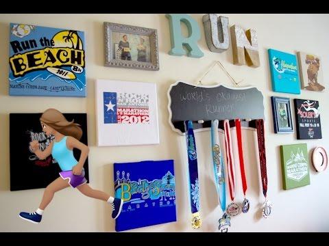 Running: T-shirt Canvas Art & DIY Medal Display  + Collage