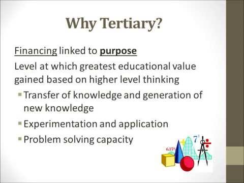Defining Tertiary Education