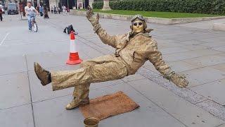 Download Secret revealed London street performer, floating and levitating trick