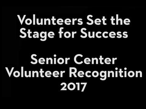 2017 Senior Center Volunteer Recognition Ceremony