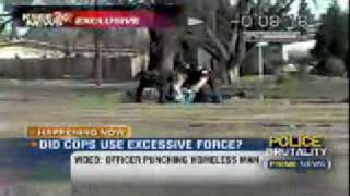 Fascist Cops Beat Homeless Man