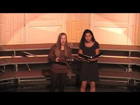 Columbus Community High School Vocal Duet Christmas 2016