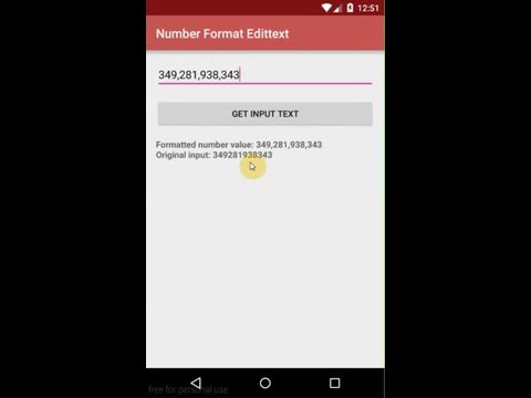 Android Tip: Format number in EditText after realtime