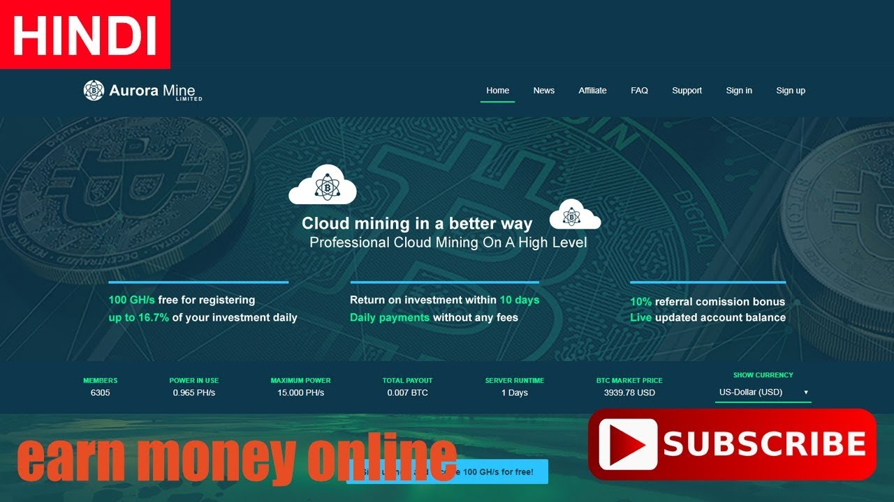 99mining.cloud: Start Bitcoin Mining Today! It's Free!