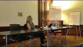 Closing lecture of the 2013 Antonio Cassese Summer School in Geneva