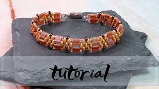 Miyuki Tila and Matubo Miniduo Bracelet | Bead bracelet tutorial | Easy bead tutorial