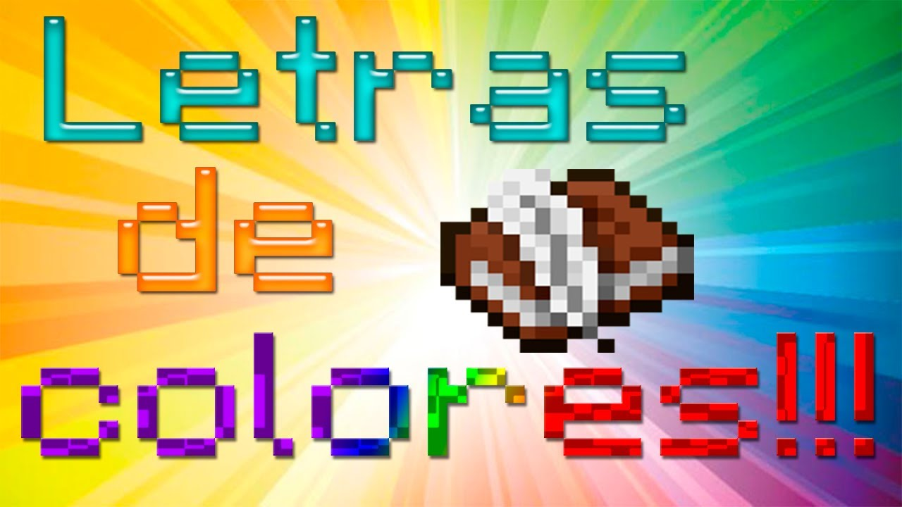 Como escribir libros con letras de colores - Minecraft - 1.8 * Todas ...