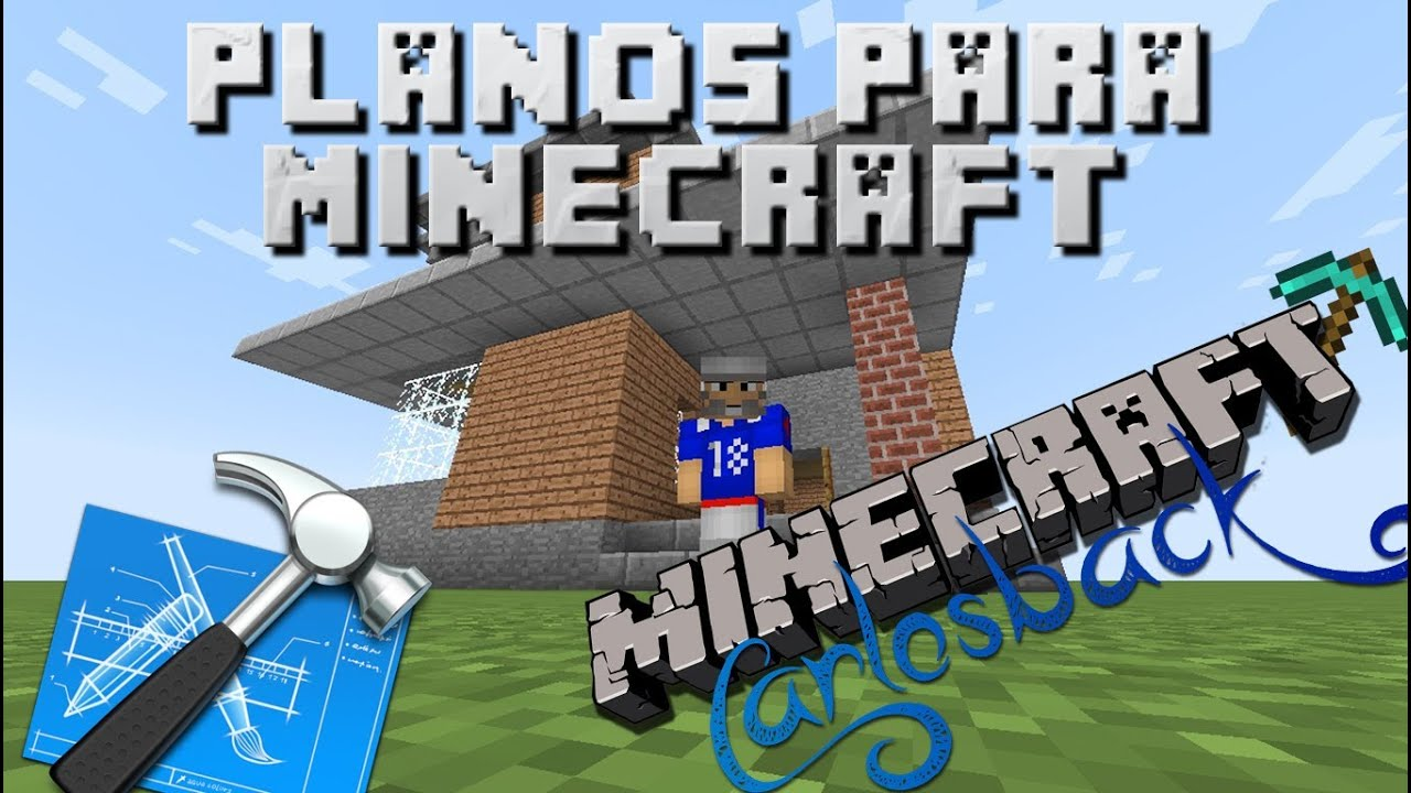 Planos para minecraft cap 01 casa playera de carlosback for Casas minecraft planos
