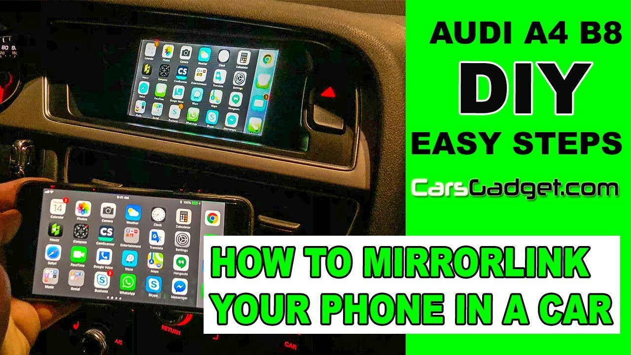 🤔How to MirrorLink Smartphone in Car with CarsGadget Mirabox [Installation  in Audi A4] (2019)