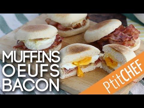 recette-de-muffins-anglais-oeuf-et-bacon---ptitchef.com