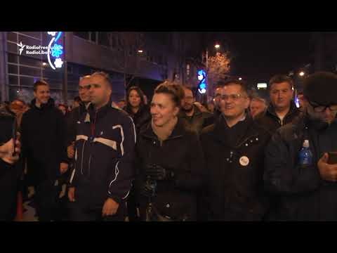 Protesters Call On Serbian President To Resign