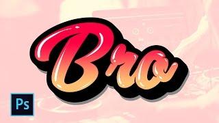 Membuat Desain Typography Lettering dengan Efek Gradasi dan Balon - Photoshop Tutorial Indonesia