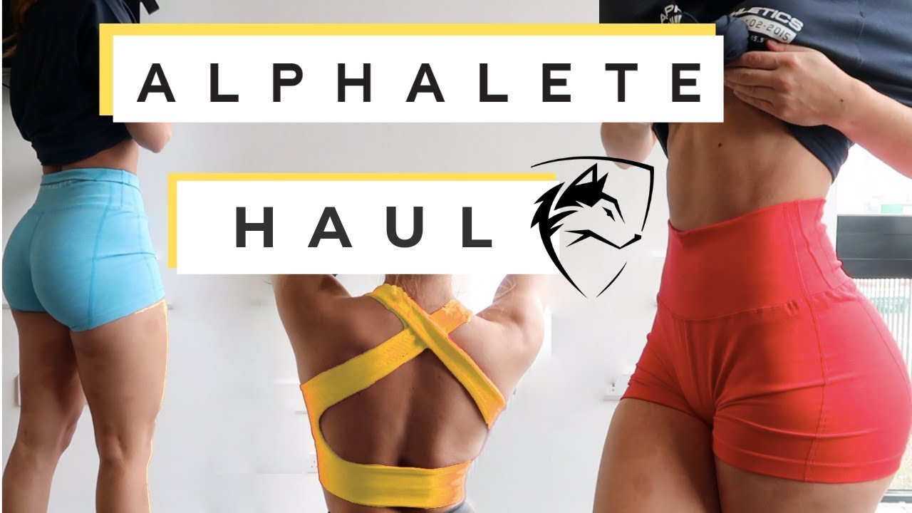 ALPHALETE HAUL - April 2019, leggings, shorts, bras, crop tops