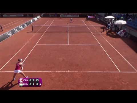 Andreescu Bianca Vanessa v Gecsek Fanni - 2016 Junior Fed Cup finals