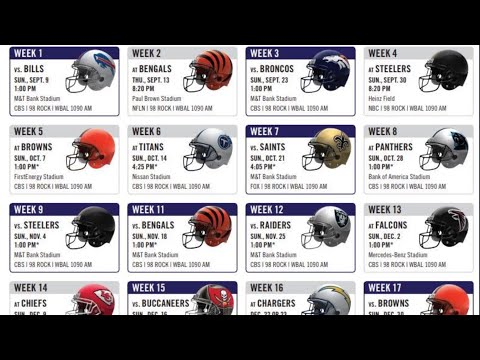 LIVE REACTION TO RAVENS 2018 SCHEDULE