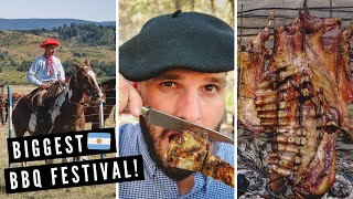 BIGGEST BBQ GRILL IN ARGENTINA! ?? | Epic Argentine Asado Festival in Patagonia