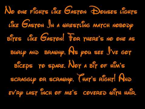 Gaston - Beauty And The Beast Lyrics HD