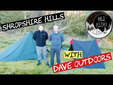 SHROPSHIRE WILD CAMP - On The Long Mynd With Dave Outdoors