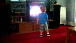 Nicholas 2 dancing to Here we go Fresh Beat Band