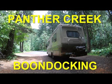 Dispersed Camping In a Class A Motorhome   Panther Creek