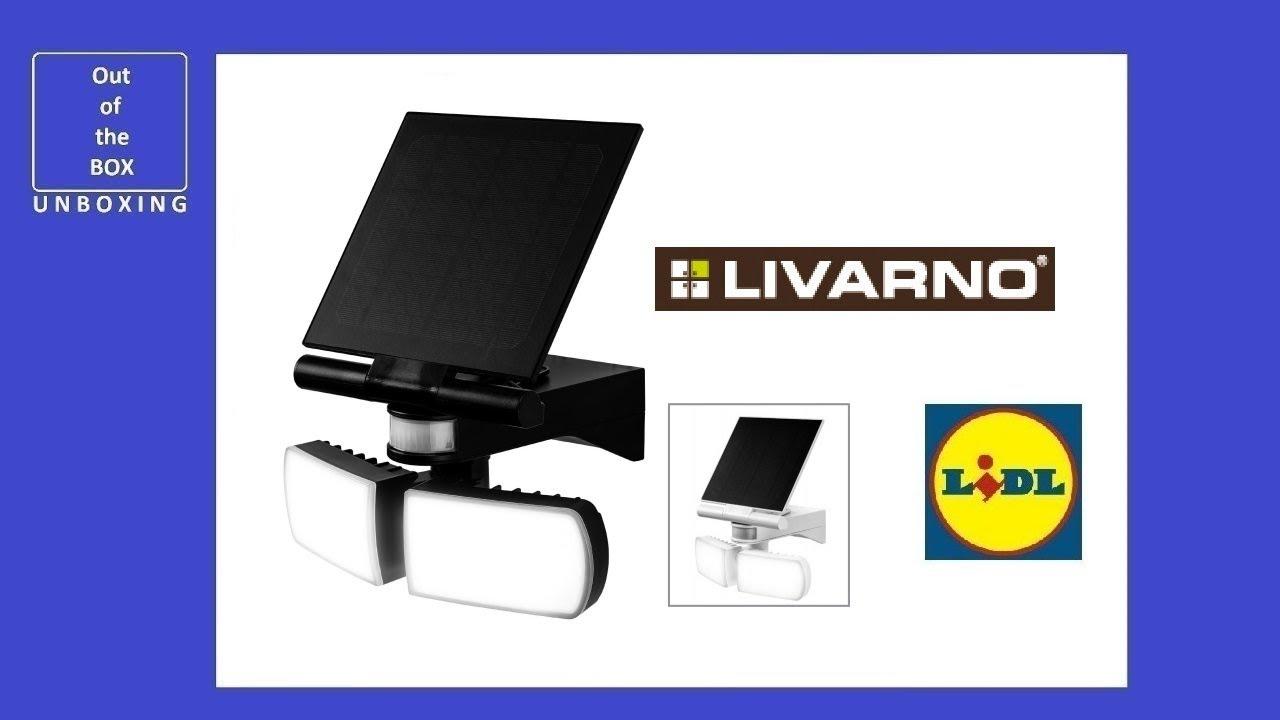 Livarno Lux Led Solar Spotlight Unboxing Lidl 3 7v 4000 Mah Ip44